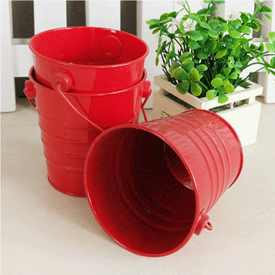 Metal Bucket - Red