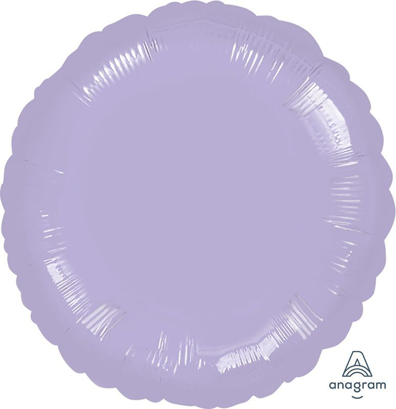 Round Shaped Foil Balloon | Lilac - Helium Filled
