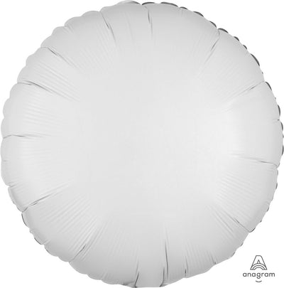 Round Shaped Foil Balloon | White - Helium Filled