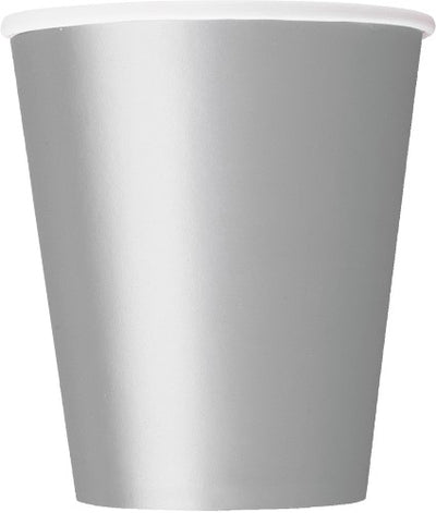 Silver Foil Paper Cups - 270ml (Pack of 8)