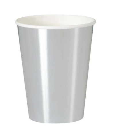 Silver Foil Paper Cups - 355ml (Pack of 8)