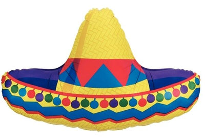 Sombrero Shaped Foil Balloon - Helium Filled