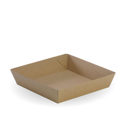 Food Tray Recycled Paper - 17.8cm(L) x 17.8cm(W) x 4.5cm(H)