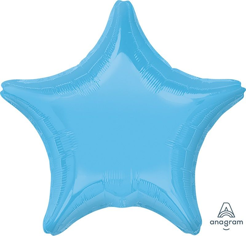 Star Shaped Foil Balloon | Pale Blue - Helium Filled