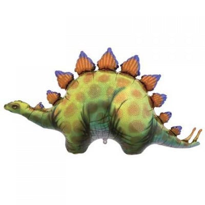 Stegosaurus Dinosaur Shaped Foil Balloon 116cm - Helium Filled