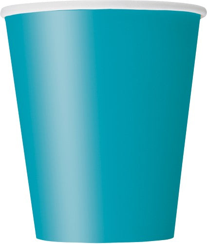 Caribbean Teal Paper Cups - 270ml (Pack of 14)