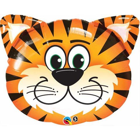 Tiger Head Shaped Foil Balloon 76cm - You Fill