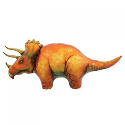 Triceratops Dinosaur Shaped Foil Balloon 120cm - Helium Filled