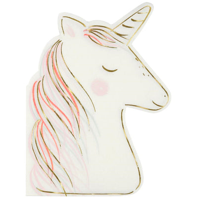 Unicorn Shaped Napkins Unicorn Napkins Meri Meri
