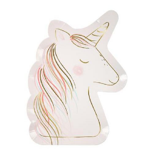 Unicorn Shaped Paper Plates (Pack of 8)