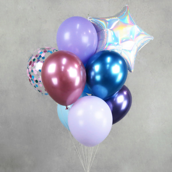 Purple Helium Balloon Centerpiece