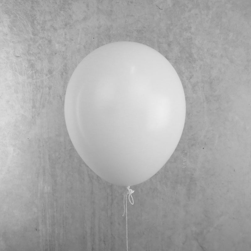30cm Round Standard White Balloons - You Fill (Pack of 5)