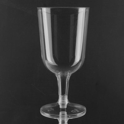 Plastic Wine Glasses - Clear