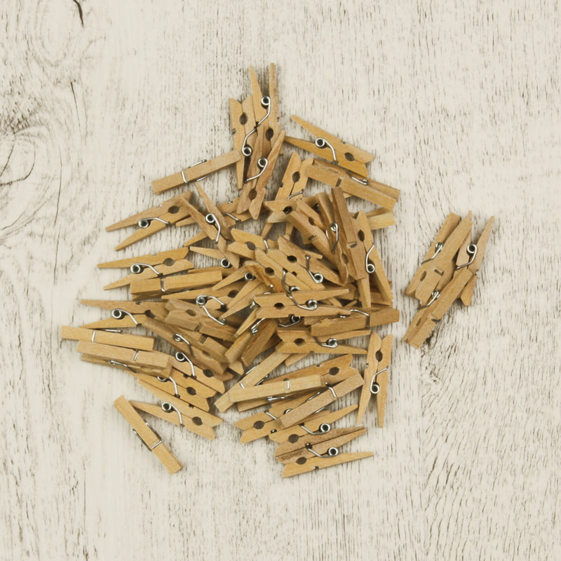 Small Wooden Pegs (Pack of 50)