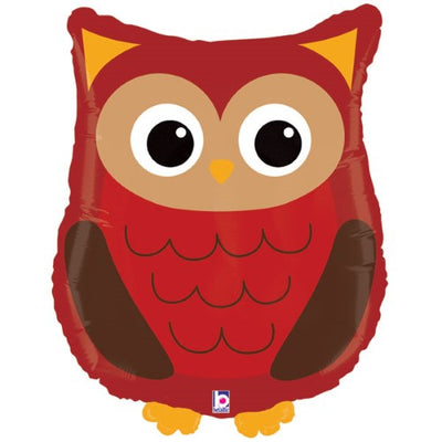 Woodland Owl Shaped Foil Balloon 90cm - You Fill