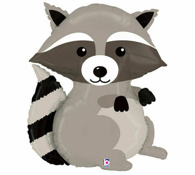 Woodland Racoon Shaped Foil Balloon 90cm - You Fill