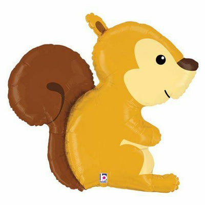 Woodland Squirrel Shaped Foil Balloon 90cm - You Fill