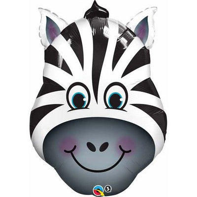 Zebra Head Shaped Foil Balloon 82cm - You Fill