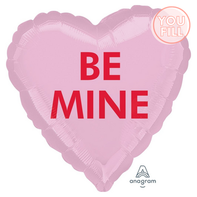 Heart Shaped Foil Balloon | Be Mine - You Fill