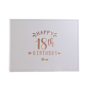 Gold Foil Guest Signature Book