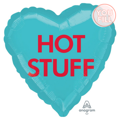 Heart Shaped Foil Balloon | Hot Stuff- You Fill