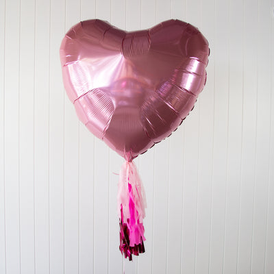 Giant Foil Heart | Jumbo Balloon - Helium Filled | 3-5 Days Float Time