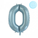 86cm Light Blue Number Foil Balloons (0-9) - You Fill