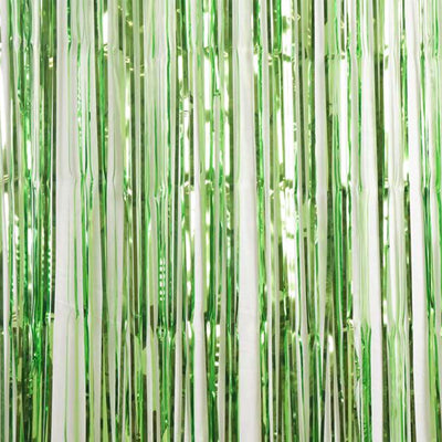 lime-green-foil-curtain