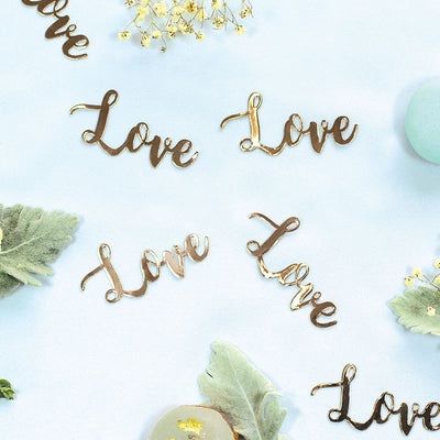 LOVE Foil Jumbo Confetti Rose Gold (Pack of 20)