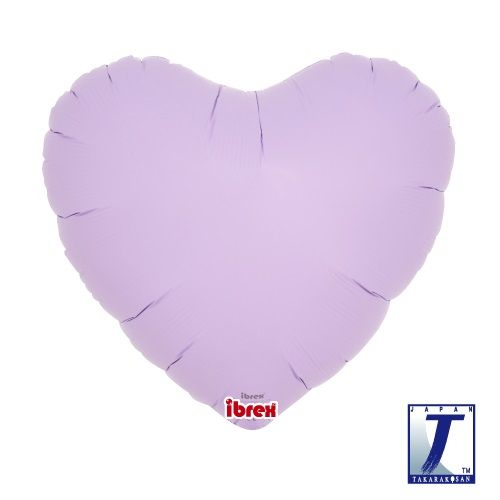 Heart Shaped Foil Balloon | Matte Pastel Lavender - You Fill