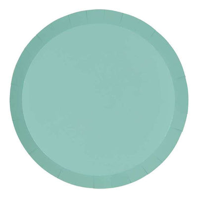 Mint Green Paper Plates 18cm (Pack of 10)