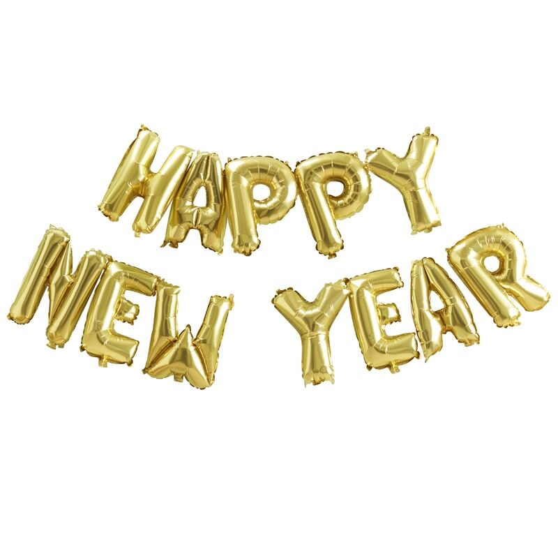 Happy New Year Banner | Foil Balloon Bunting