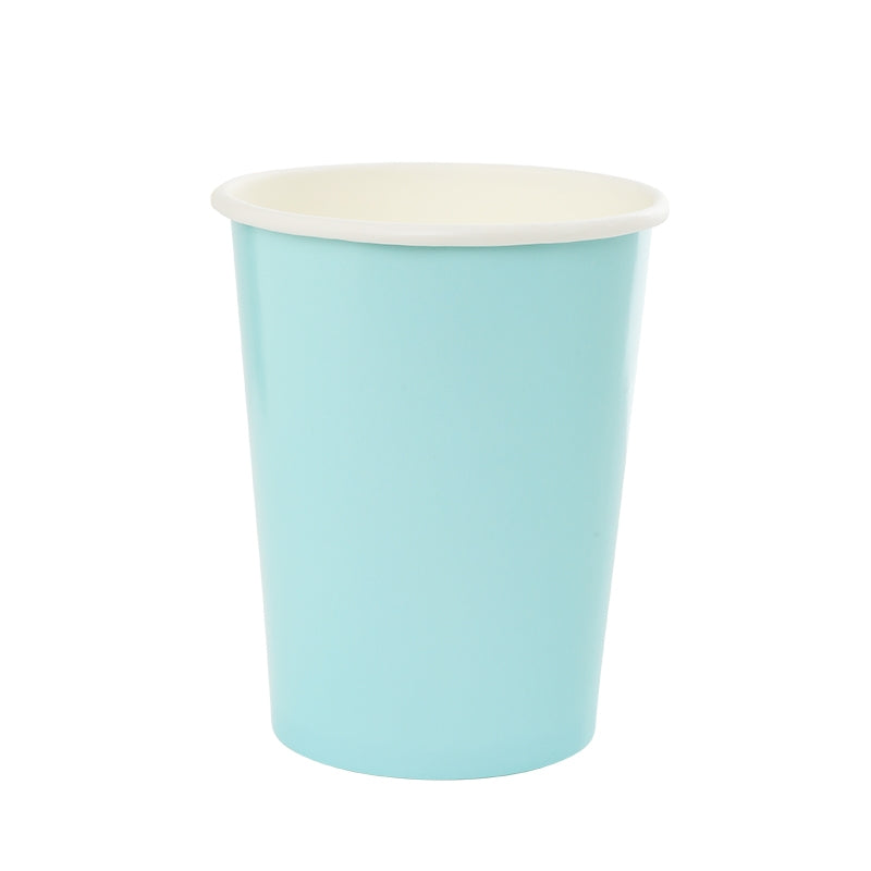 Pastel Blue Paper Cups - 260ml (Pack of 10)
