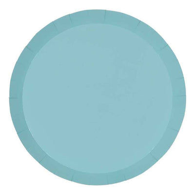 Pastel Blue Paper Plates 18cm (Pack of 10)