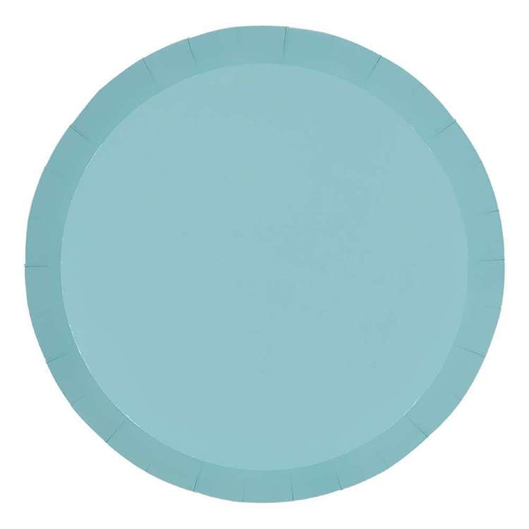 Pastel Blue Paper Plates 23cm (Pack of 10)