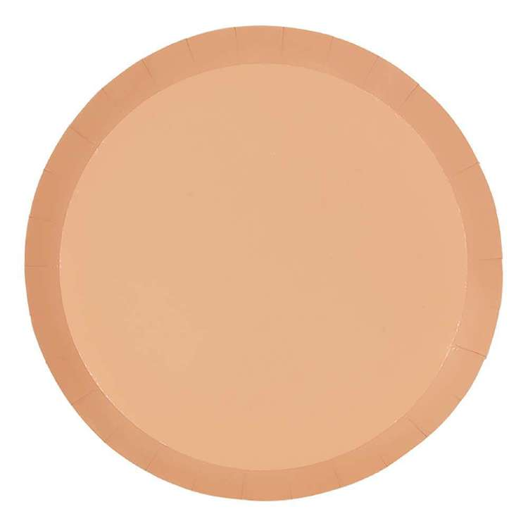 Peach Paper Plates 18cm (Pack of 10)