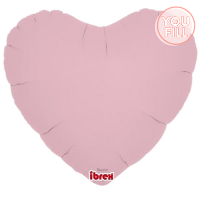 Heart Shaped Foil Balloon | Matte Pastel Pink - You Fill