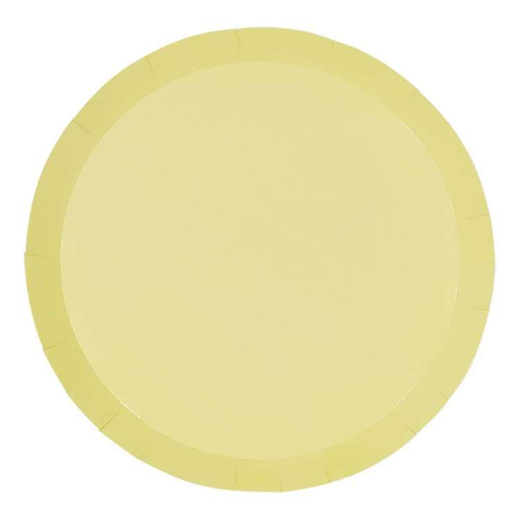 Pastel Yellow Paper Plates 23cm (Pack of 10)
