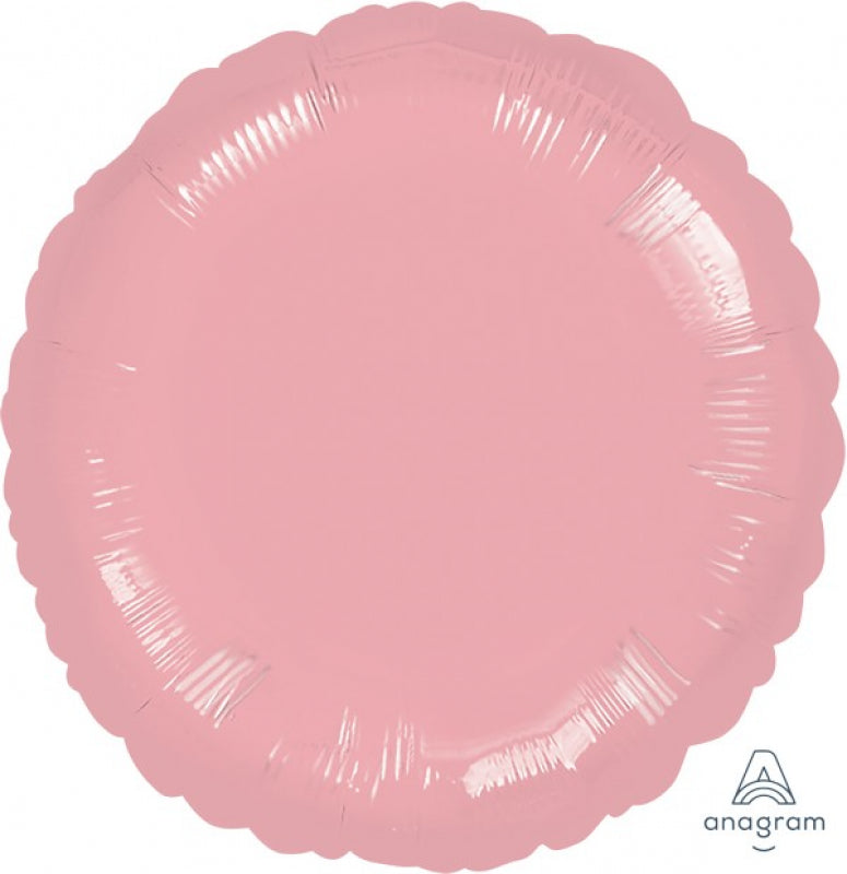 Round Shaped Foil Balloon | Pearl Pastel Pink - Helium Filled