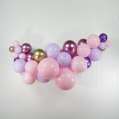 Garden Party Pink Balloon Garland - Inflated for Pickup or Local Delivery