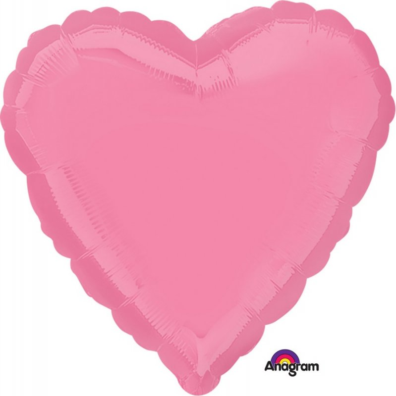 Heart Shaped Foil Balloon | Bright Bubble Gum Pink - Helium Filled