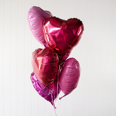 Love Shack | Valentine's Day Foil Balloon Bouquet - Helium Filled | 3-5 Days Float Time