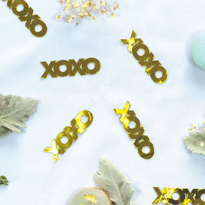 XOXO Foil Jumbo Confetti Gold (Pack of 20)