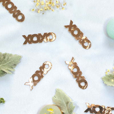 XOXO Foil Jumbo Confetti Rose Gold (Pack of 20)