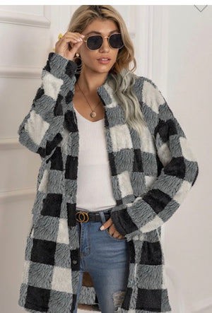 Miss Sparkle Plaid Sherpa