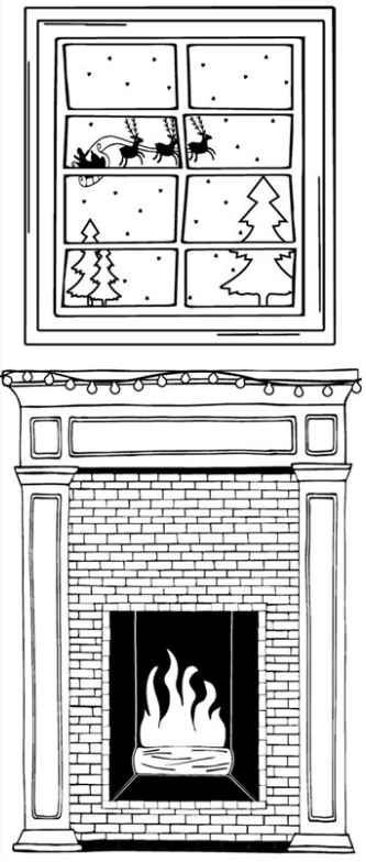 Santa Fireplace Printable