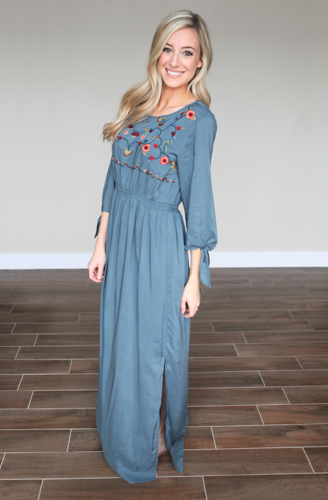 Spring Embroidered Maxi