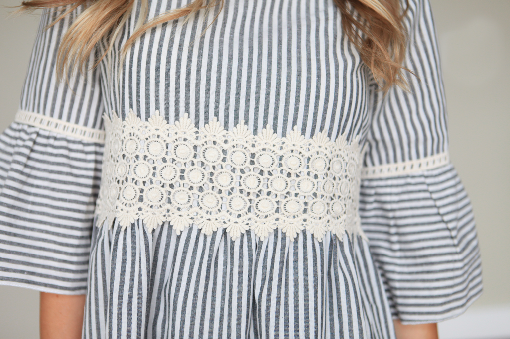 Striped Vintage Lace Top