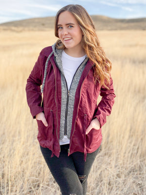 Savi Jacket in Wine
