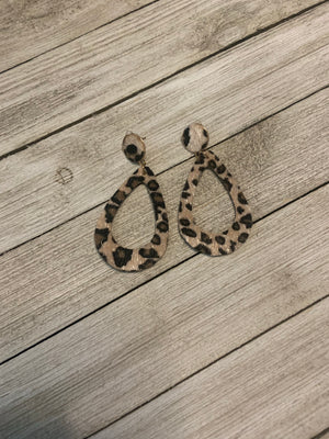 Tear drop Cheetah earrings